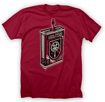 valentines day love crank speed lube t-shirt from twin six